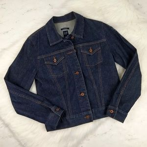 GA P Classic Denim Jacket Dark Wash